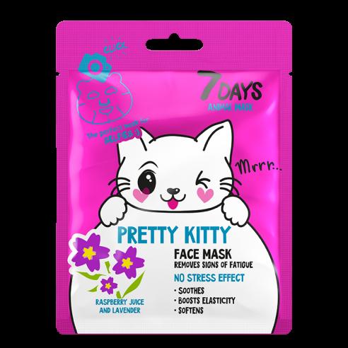 7 DAYS ANIMAL Pretty Kitty Sheet Mask...