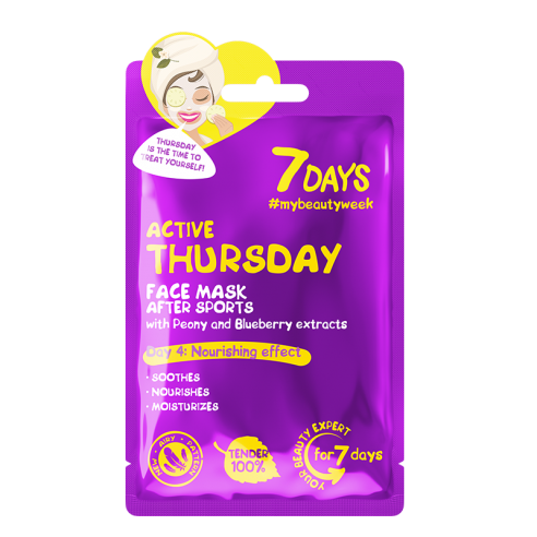 7 DAYS Active Thursday Sheet Mask 28g