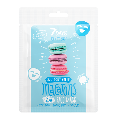7DAYS CANDY SHOP Macarons Sheet Mask 25g