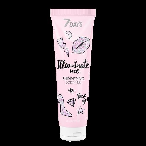 7DAYS ROSE GIRL Shimmering Body Milk...